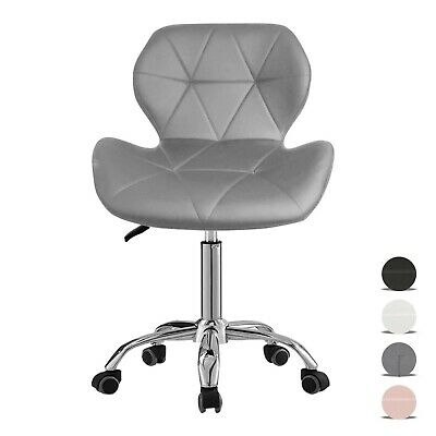 Cushioned Office Chair Adjustable Computer Desk Chair Home Swivel Chair Leather