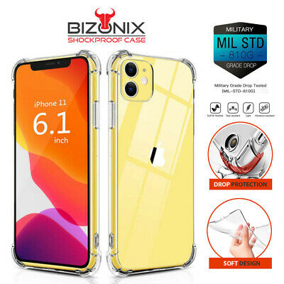 iPhone 6 7 8 Plus XS Max 5S Case Cover Shockproof Tough Gel Clear for Apple Lot