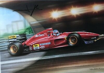 Signed Formula One Picture Of Jean Alesi