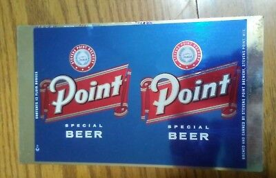 """Point Special Beer Flat Top Unmade Beer Can  """"Stevens Point, Wisconsin"""""""