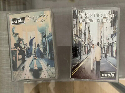 Oasis - Definitely Maybe & What's the Story (Morning Glory) Cassette Tapes