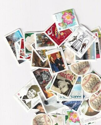 """Canada Postage - 50 x """"p"""" - $46.00 face - uncancelled - no gum - FREE SHIPPING"""