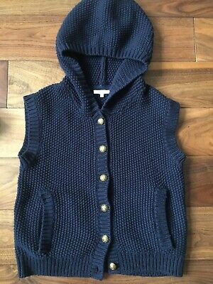 Designer Chloe  girl gillet with hood age 12 Navy