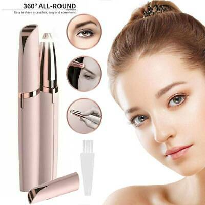 Electric Eyebrow Trimmer Flawless Hair Brows Removal Remover Portable UK