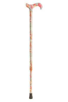Tea Party Adjustable Walking Stick - Peach Floral