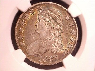 1827 50C Square Base 2 Capped Bust Half Dollar, O-120a, R.4, NGC certified XF