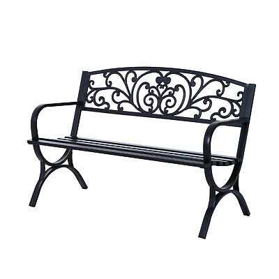 Outsunny 2 Seater Garden Bench Patio Vintage Loveseat Outdoor Decorative Seat