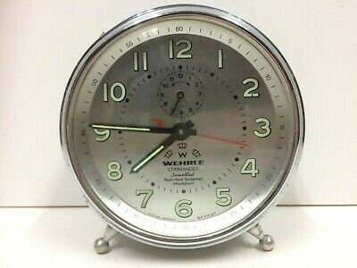 Vintage Wehrle Commander Jewelled Alarm Clock