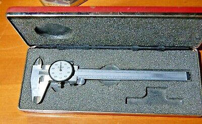 "Vintage Starrett 6"" Inch No. 120 .001 Dial Caliper Machinist Tool made in Japan"