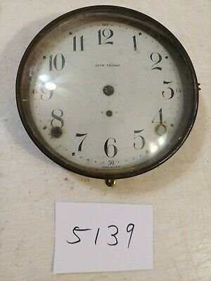 Antique Seth Thomas Tambour Mantle Clock Dial And Bezel With Glass