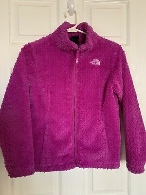 The North Face Girls Medium 10/12 Laurel Fleece Jacket Full Zip Purple MSRP $90