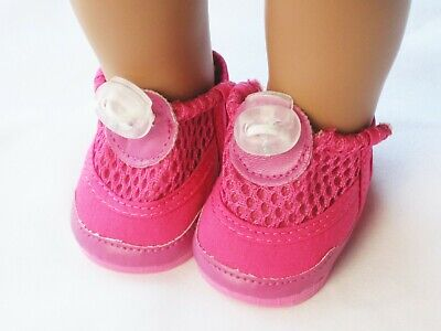 """Hot Pink Water Shoes Slip On Doll Clothes For 18"""" American Girl"""