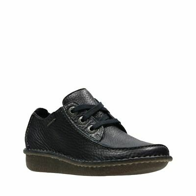 Clarks Funny Dream Black Leather Casual Ladies Shoes UK7 (EU41 / US9.5)