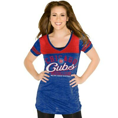 Touch by Alyssa Milano Chicago Cubs Women's Coop Premium T-Shirt - Royal Blue SM
