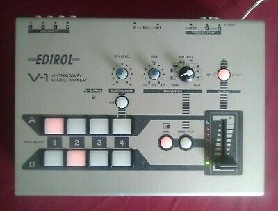 Used Roland V-1 4 Channel Video Mixer Edirol Production Switcher