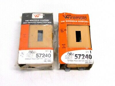 Nos! (2) Wiremold 57240 Single Pole Switch And Box, 15A 125V