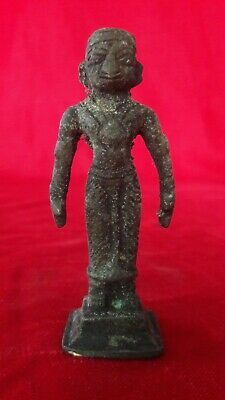 Brass Bronze Hindu Diety God Man Statue Figurine Idol Sculpture Antique b/27