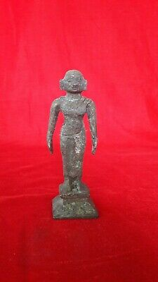 Antique Brass/Bronze Hindu Diety Goddess Lady Statue Figurine Idol Sculpture b24