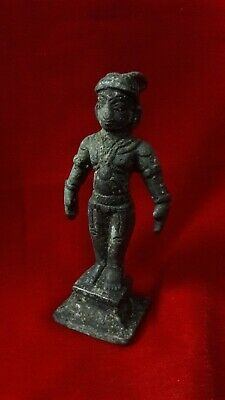 Antique Brass Bronze Hindu Diety Lord God Man Statue Figurine Idol/Sculpture b36