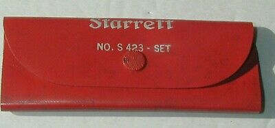 "STARRETT S 423 Rule Set With Holder  & 1/4""to 3/4 "" scale [[1""scale is missing]"