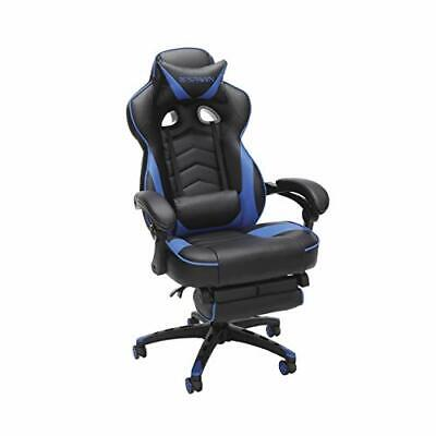 RESPAWN 110 Racing Style Gaming Chair, Reclining Ergonomic Leather Chair Blue
