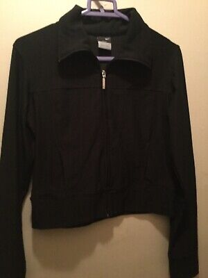 Women's S (4-6) Nike Tennis Dri-Fit black jacket and lined skirt set worn once
