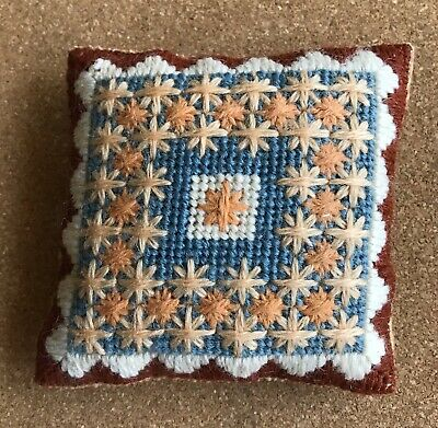 Needlepoint/Bargello Pin Cushion Hand Made! Original Design NEW!