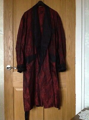 Vintage Mens Tootal House Coat / Dressing Gown / Smoking Jacket Paisley Pattern