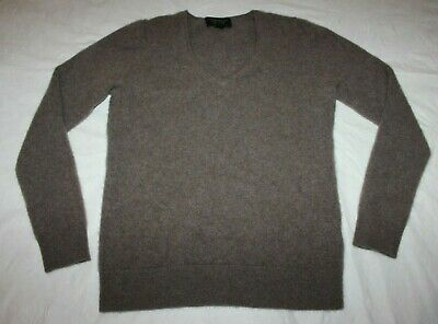 Charter Club Luxury 100% Cashmere V-Neck Brown/Taupe Sweater Women's Size Small
