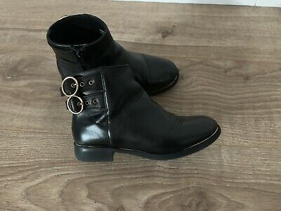 ZARA Girl Leather Ankle Boots