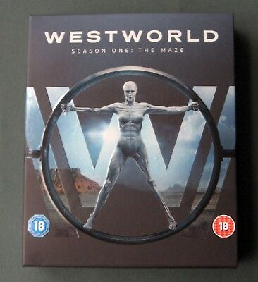 Westworld Season One The Maze (Blu-ray, 2016) Set, Digital Download + Guidebook