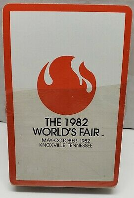 1982 Worlds Fair Playing Cards Knoxville TN - 1 Deck of partialed Sealed Package