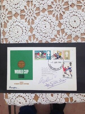 1966 World Cup Signed Bobby & Jack Charlton First Day Cover Collectable Nice
