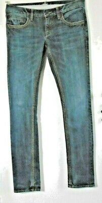 Ted Baker Size 2 Ladies Long Slight Stretch Navy Blue & Faded Straight Leg Jeans