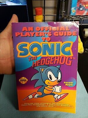 Official Guide To Sonic the Hedgehog for the Sega Genesis. Vintage!!