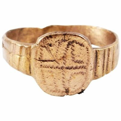 EARLY CHRISTIAN RING 5th-11th CENTURY SIZE 8 ¼