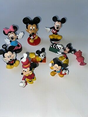 Disney MICKEY MOUSE Minnie LOT of PVC Figures Stamps Plastic Vtg Bobblehead