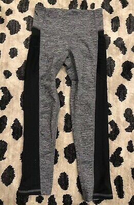 C9 Champion Gray Black Leggings Athletic Cropped Pants XS Extra Small Pockets
