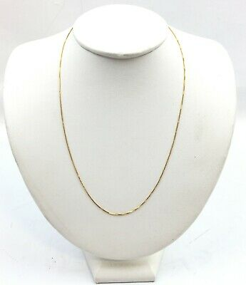 """14K Gold Thin Box Chain Necklace 18"""""""
