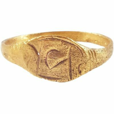 Ancient Viking Runic Ring C.850-1050 Ad Size 9