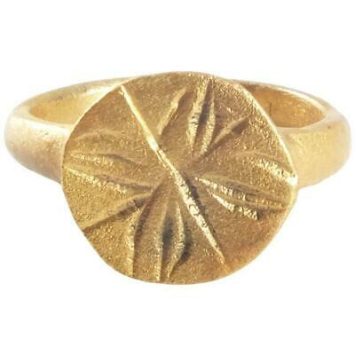 GOOD EARLY CHRISTIAN PILGRIM'S RING 7th-10th CENTURY SIZE 1 ¾