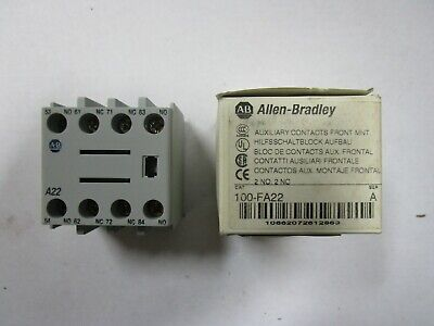 Allen-Bradley 100-F Auxiliary Contact Block SER. A