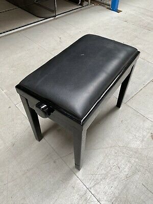 Height Adjustable Leather Piano Wood Bench Keyboard Stool Padded Seat