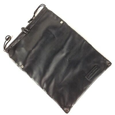 Delta Airlines Roll Up Hanging Travel Toiletry Utility Bag Lined Black