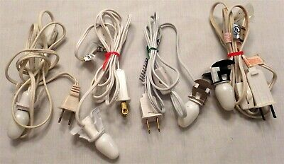Lot of 4 Lights for Christmas Village Buildings with on/off Switches White Cords