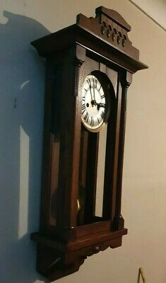 Large HEAVY Antique Wooden wall clock