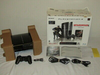 PlayStation 3 Metal Gear Solid 4 80GB Console Backwards Compatible PS3 with Box