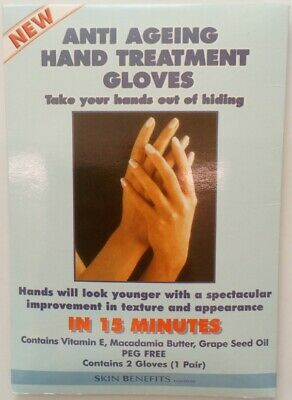 New Skin Benefits Anti Ageing Hand Treatment Gloves