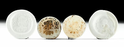 Lot of 2 Sassanian Stone Stamp Seals - Profile Faces