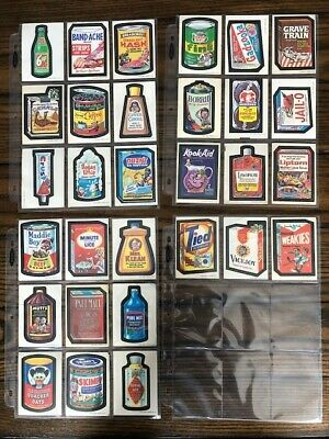 Vintage Original Topps Wacky Packages Stickers 1973 Series 1 Complete Set 30/30